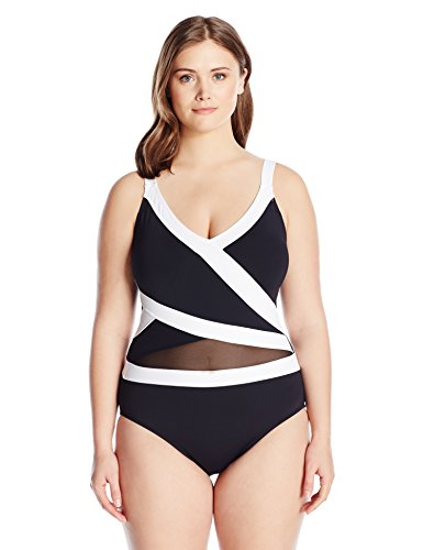 Mesh Over The Shoulder One Piece Swimsuit