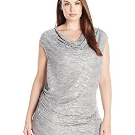 Plus Size Metallic Top