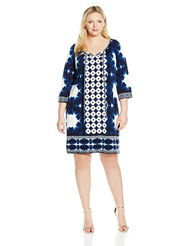 Border Print Tunic Jersey Shift