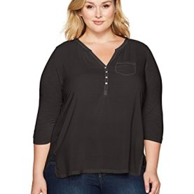 Plus Size Woven Mixed Top