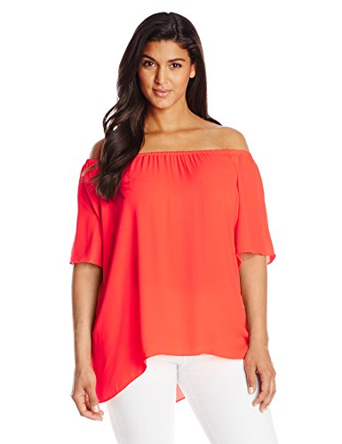 Off The Shoulder High Low Hem Blouse