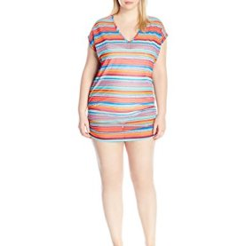 Triangle Stripe Mesh Cover up