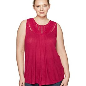 Mixed Lace Yoke Tank Top