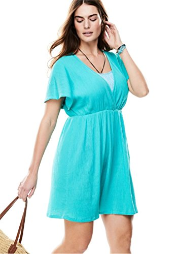 Plus Sleeve Swim Coverup