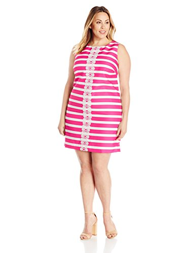 Plus Size Striped Shift Dress