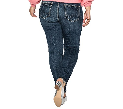 b3235e38ea432 Silver Jeans Women s Plus Size Elyse Relaxed Fit Mid Rise Skinny Jeans