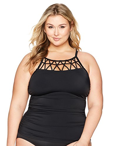 Swimwear Lattice Detail Tankini Top