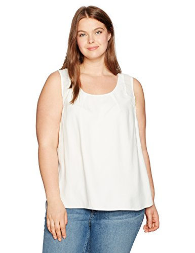 Jones New York Women\'s Plus Size Shirttail Slit Combo Tank