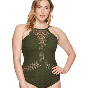 Color Play High Neck One Piece Swimsuit