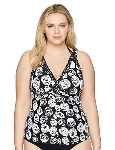 Shoulder Floral Tankini Swimsuit