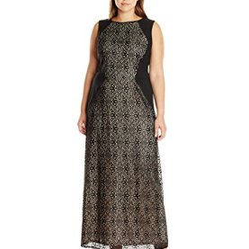 Medeival Tile Lace Inset Gown