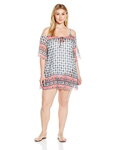 Chiffon Cold Shoulder Tunic Cover Up