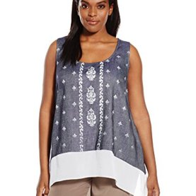 Plus Size Sheer Hem Tank