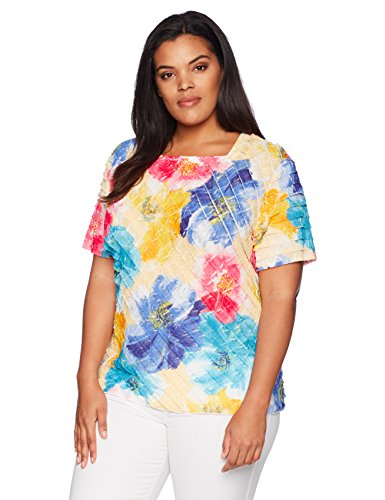 Plus Floral Tiered Blouse