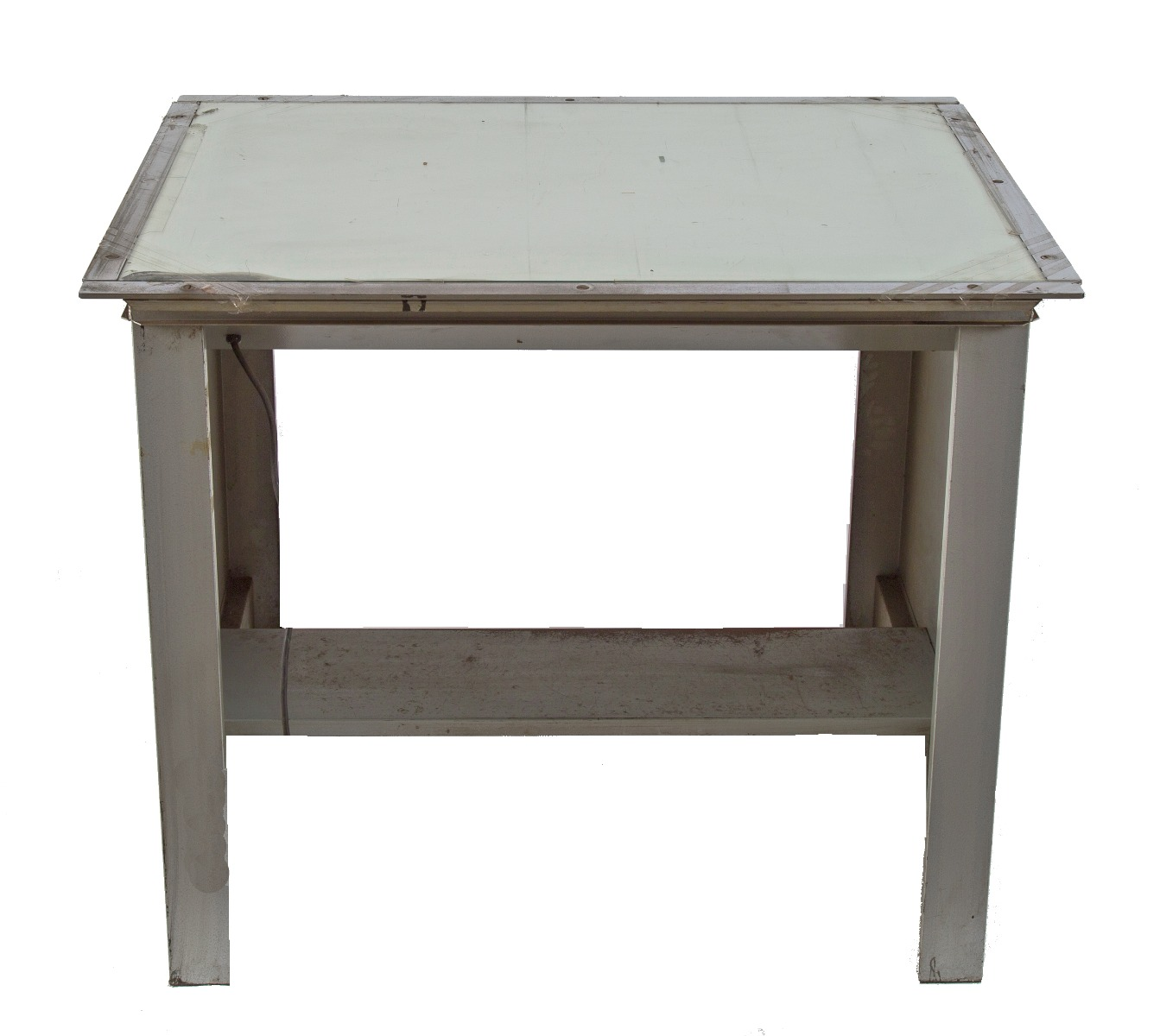 fully functional c 1950 s antique american industrial oversized freestanding salvaged chicago light table with glass top