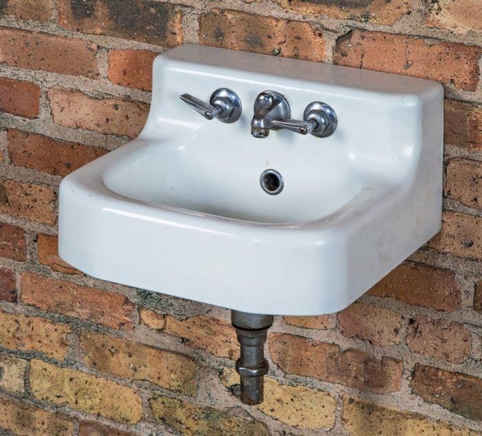 cast iron wall mount bathroom sink