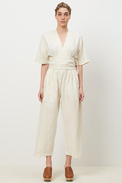 mommy looks - cream Crane jumpsuit $235