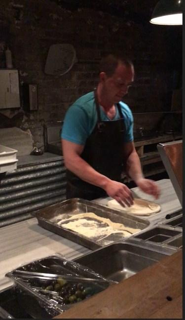 Chef Vittorio Colacitti at work in the kitchen