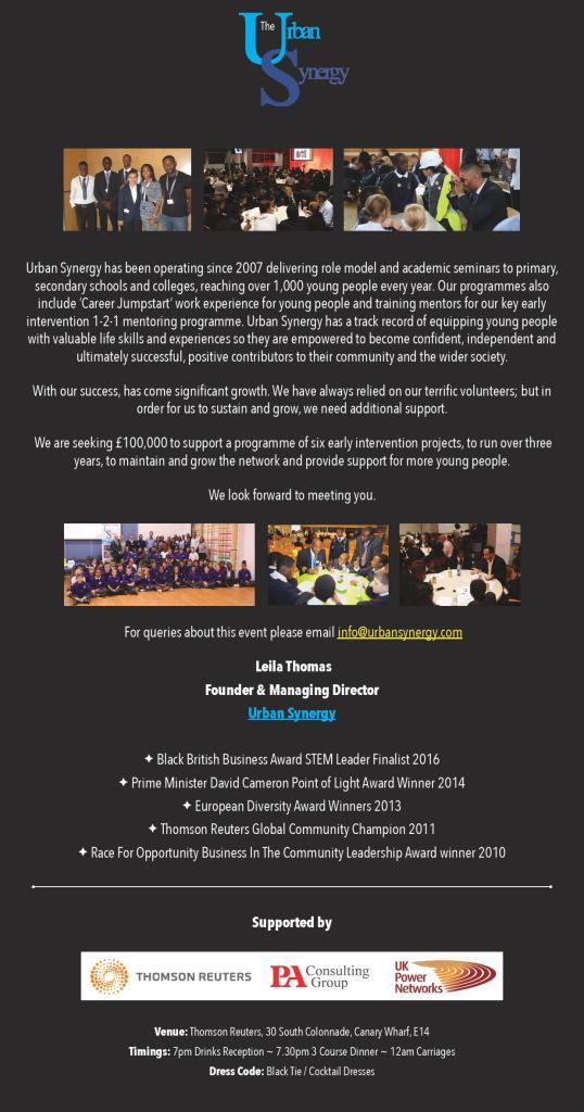 URBAN SYNERGY Gala Ball Fundraiser2
