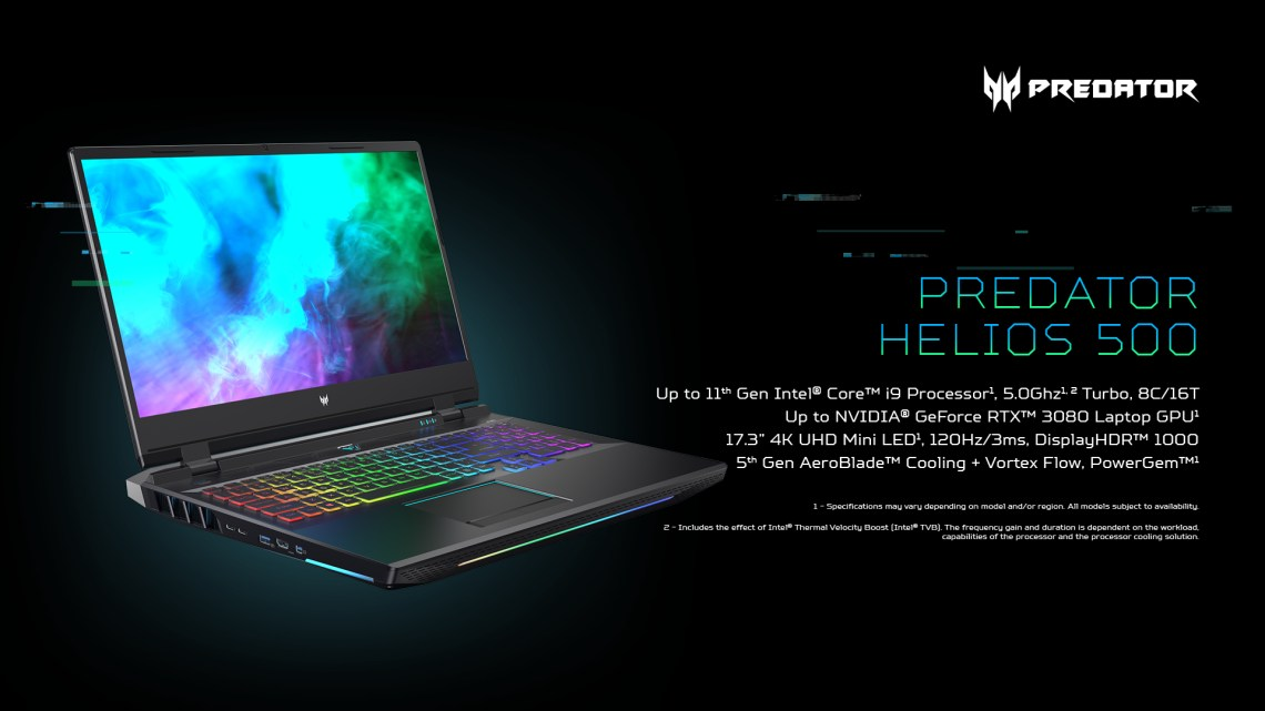 Acer Updates its Predator Gaming Notebooks with the Latest Hardware
