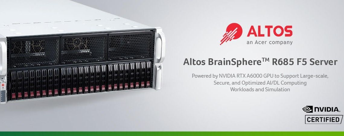 Altos BrainSphere R685 F5 NVIDIA-Certified Server Launched