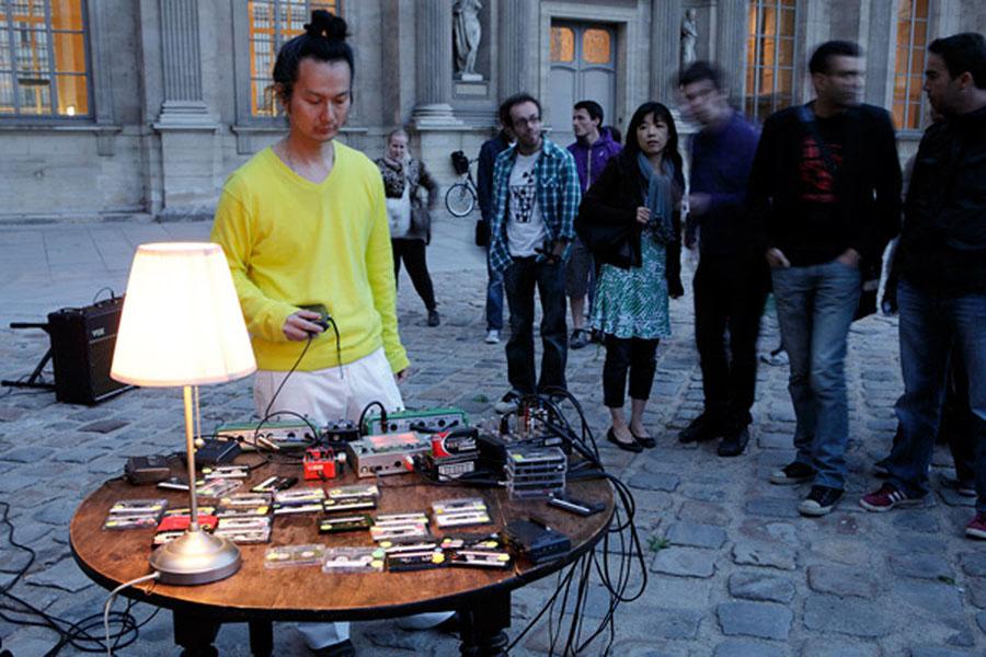 """""""Aki Onda, Cassette Memories,Birdcage - Cour Carrée du Louvre,"""