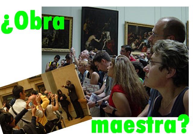 En el Louvre viendo la Gioconda...