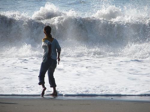 Mujer ante el mar