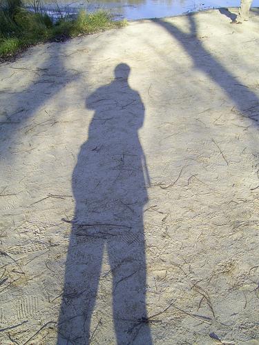 La sombra del fotógrafo es alargada