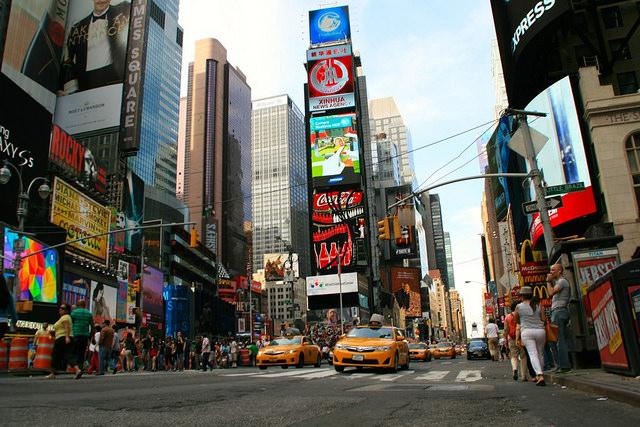 Calle 42 con Times Square