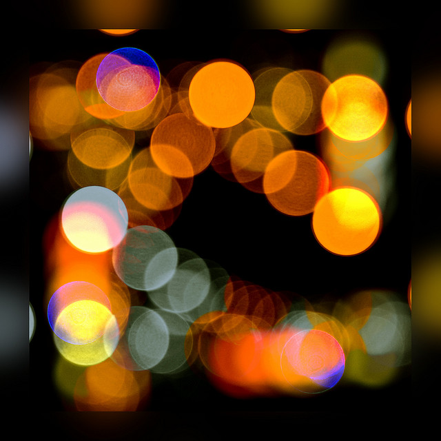 Lights dancing in the dark