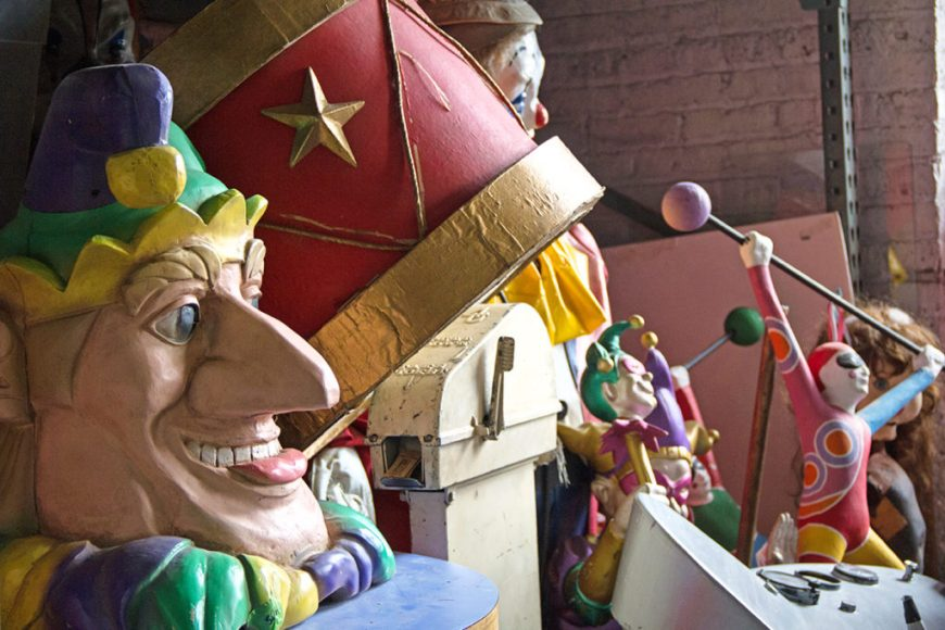 Image of carnival props at Zap Props during Open House Chicago 2016