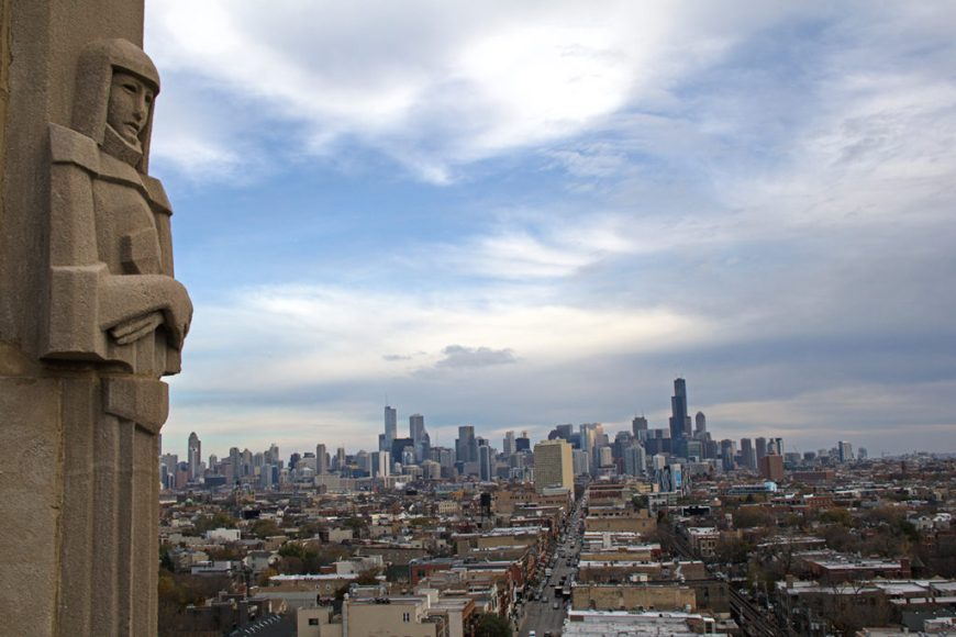 View of downtown Chicago from the Robey's rooftop