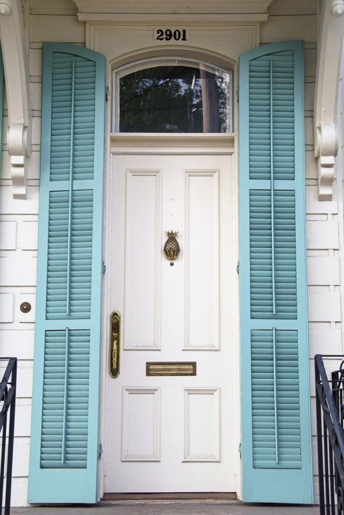 Photo of a door in New Orleans' Garden District