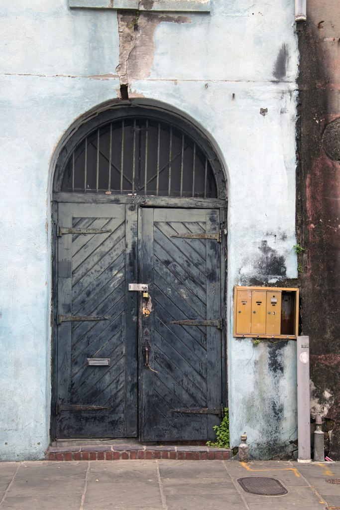Photo of a gritty doorway in the New Orleans French Quarter
