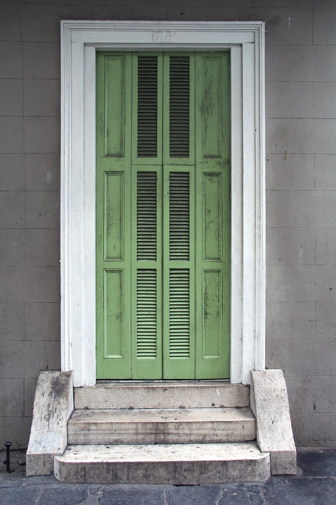 Detail of a doorway in the French Quarter of New Orleans