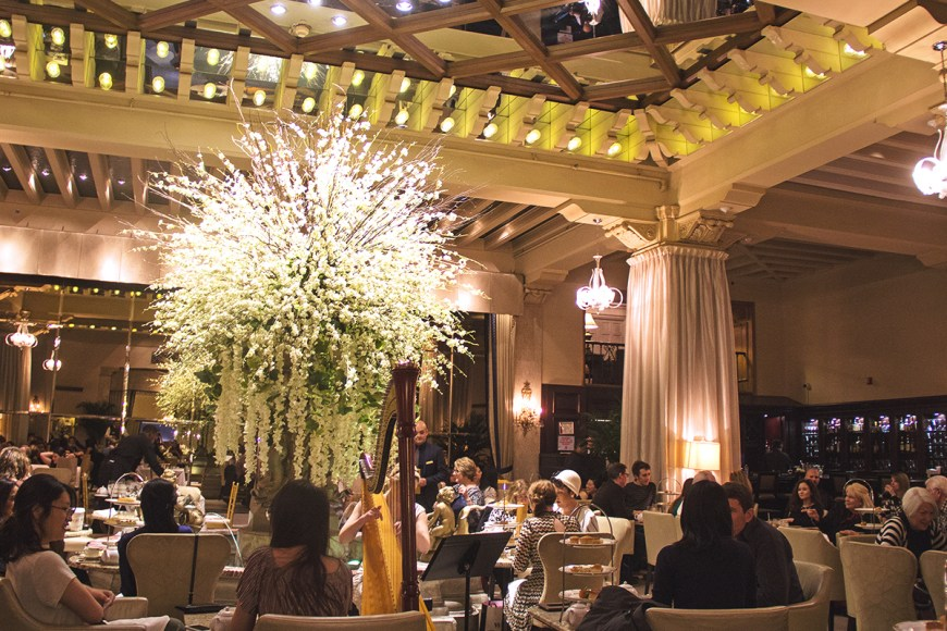 Photo of the Palm Court at the Drake Hotel during afternoon tea