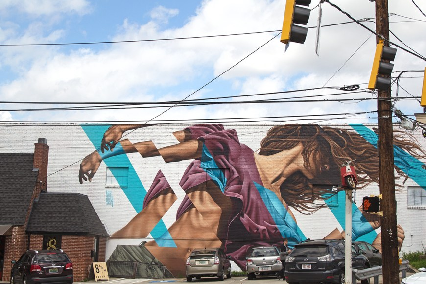 Photo of street art in Atlanta's Virginia Highland neighborhood