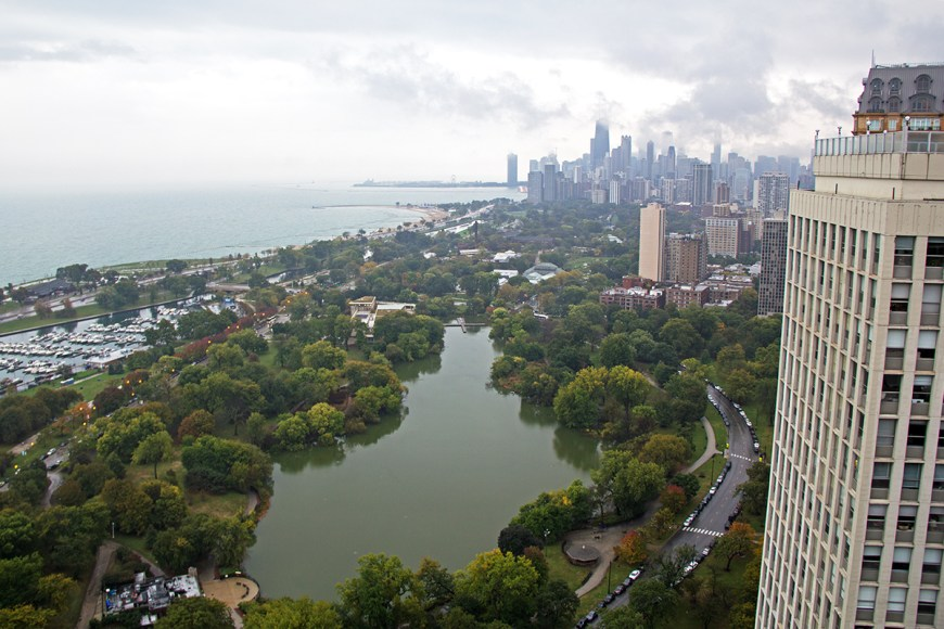 View of Chicago from 2650 North Lakeview