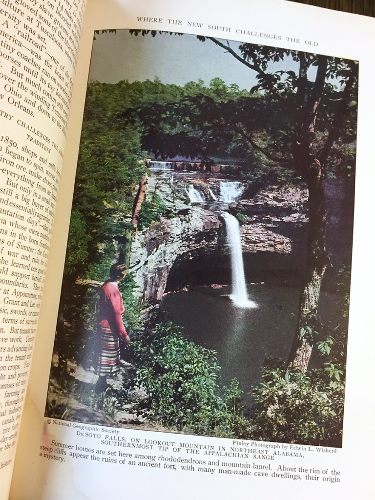 DeSoto Falls in 1931 National Geographic