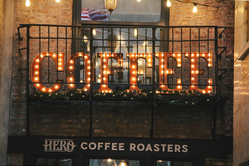 Hero Coffee Bar is located in Chicago's Pickwick Place