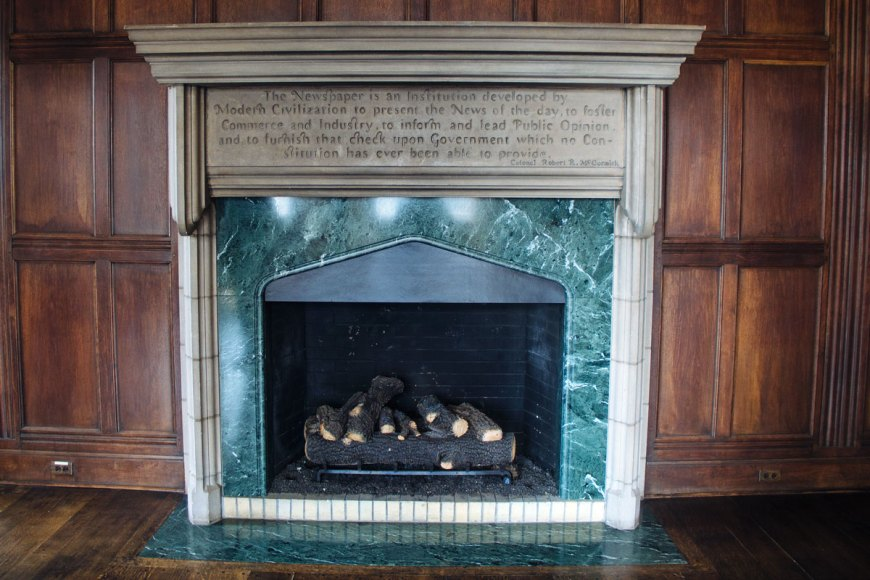 Colonel McCormick's fireplace