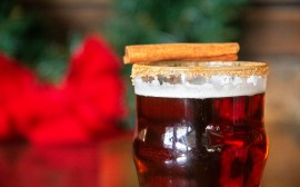Great Lakes Christmas Ale with a Cinnamon Sugar Rim