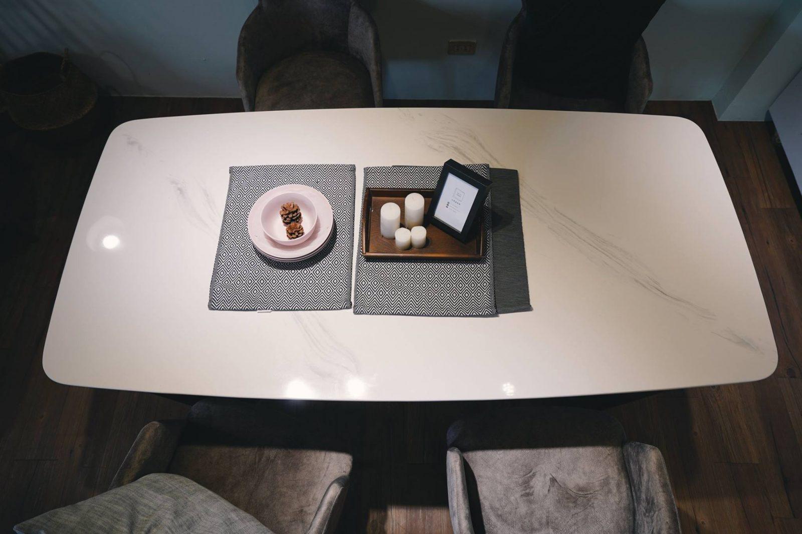 漢娜人造 石面餐桌