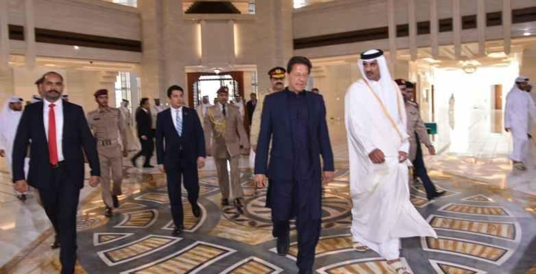 وزیر اعظم عمران خان کی امیر قطر سے ملاقات ،کئی دو طرفہ معاملات پر تبادلہ خیال