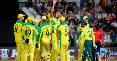 آسٹریلیا نے جنوبی افریقہ کو تیسرے میچ میں 97رنز سے شکست دے کر تین ٹونٹی ٹونٹی میچوں کی سریز 2-1سے جیت لی