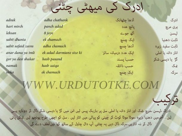 Adrak ki chatni recipe in hindi