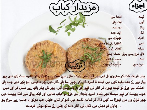 mazedar kabab recipe in urdu