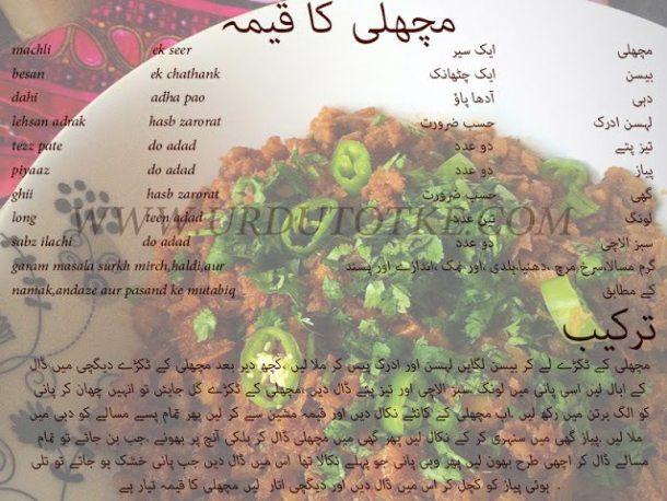 fish recipe in hindi and urdu