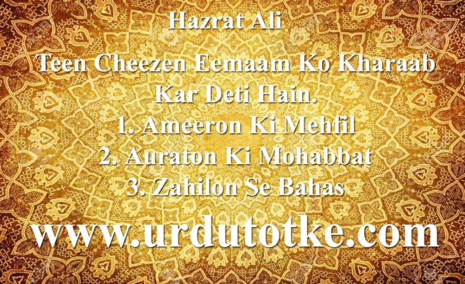 Hazrat Ali A.s Quotes in Urdu & Aqwal e Zareen Photos